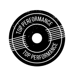 Top performance rubber stamp vector