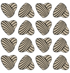 Abstract heart with stripes seamless vector image vector image