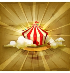 Circus old style background vector image vector image