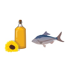 fish oil vector image