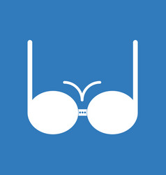 icon on background sexy women brassiere vector image vector image