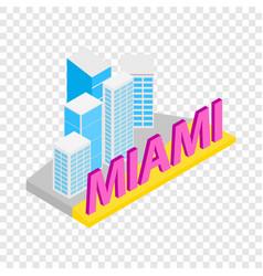 city of miami isometric icon vector image