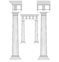doodle of classic columns vector image vector image