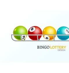 Lottery balls number Lottery game gamble luck vector image