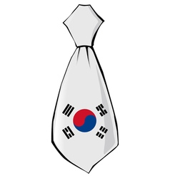 Necktie in national colours of south korea vector