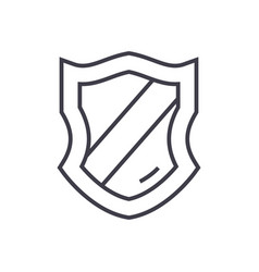schield line icon sign on vector image