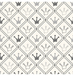 Simple seamless pattern with crown Black and white vector image