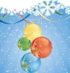 winter decorations vector image vector image