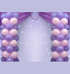 birthday background with party balloons vector image vector image