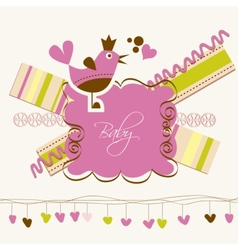 Cute baby arrival card vector image