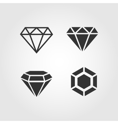 Diamond icons set flat design vector image vector image