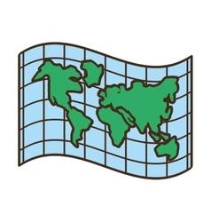 globe map location atlas vector image vector image