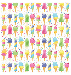 ice cream summer pattern seamless vector image vector image