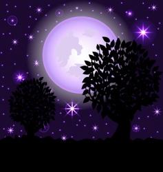 night scene2 vector image vector image