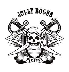 pirate emblem vector image