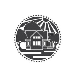 real estate concept of home vector image vector image