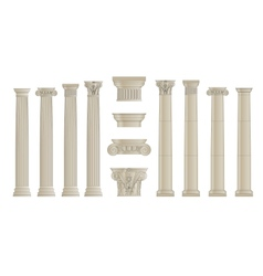set of colums vector image