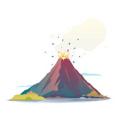 volcano eruption vector image vector image