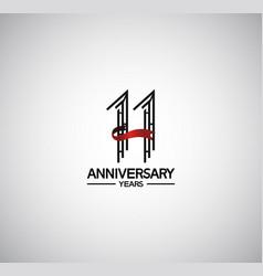 11 years anniversary logotype flat design vector