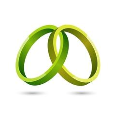 Abstract green circles icon vector image