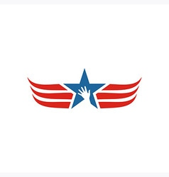 America usa logo icon star wing vector
