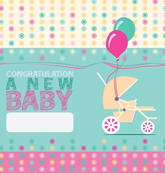 Baby New Born Greeting Card vector