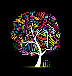 Back to school art tree for your design vector