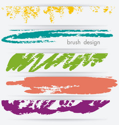 banner set wit abstract sketch background vector image