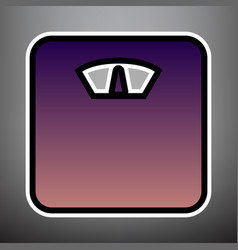 bathroom scale sign violet gradient icon vector image