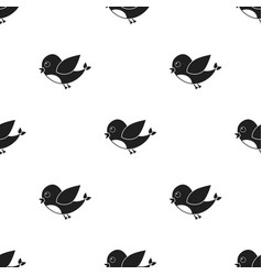 bird black icon for web and mobile vector image
