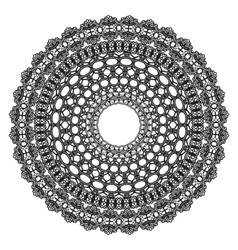 Black crochet doily vector image
