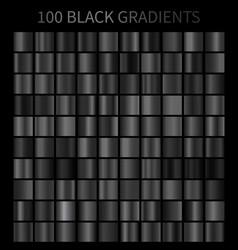black gradients 100 big set vector image