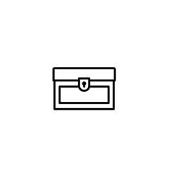 chest treasure icon vector image