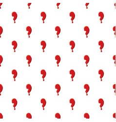 Comma punctuation mark isolated white background vector