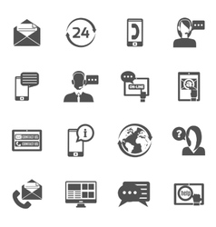 Contact us icons set vector