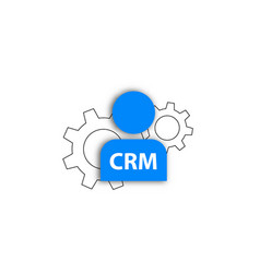 crm icon customer method service vector image