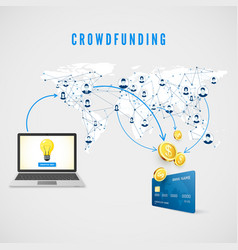 crowdfunding people from global network donating vector image