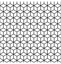 Cubes Black and white Seamless Pattern vector image vector image
