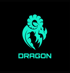 dragon abstract logo vector image