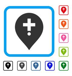 Drugstore marker framed icon vector