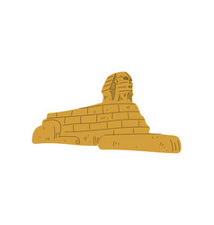 egyptian sphinx statue symbol traditional vector image