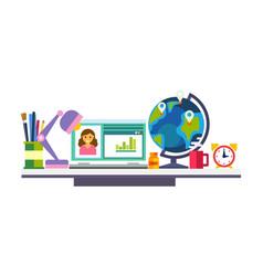 Elearning online education process school vector