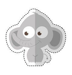 Elephant character isolated icon vector