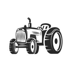 farmers tractor design element for label emblem vector image