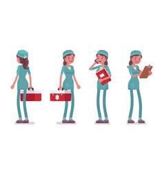 female nurse standing vector image