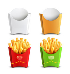 French fries 2x2 design concept vector