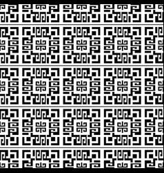 geometric abstract greek seamless pattern black vector image