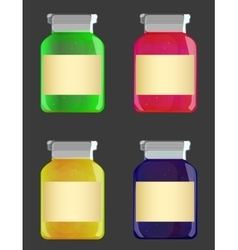 glass jars with jam vector image