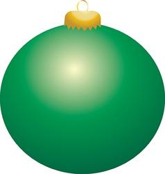 Green Ball Ornament vector image