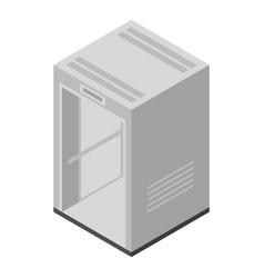 Hallway elevator icon isometric style vector